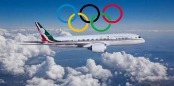 Lleva equipo deportivo a Tokio el avión presidencial