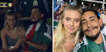 Pareja en partido México vs Guatemala se vuelve viral