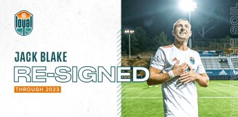 San Diego Loyal Extiende el Contrato del Mediocampista de 27 años, Jack Blake