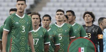 Tri Olímpico con error en uniforme, bordan bandera de México al revés