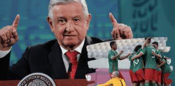 Muy bien, única felicitación de AMLO al Tri Olímpico