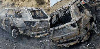 Se incendia automóvil en Carretera Ensenada-Rosarito Km 11