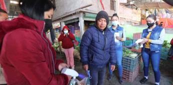 Se rehúsan a uso de cubrebocas en Central de Abasto de Toluca