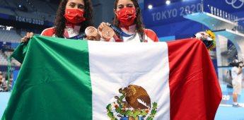 Bronce para México en clavados sincronizados femenil en plataforma