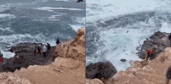 Se viraliza vídeo donde turistas son tragados por La Bufadora