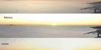 ¿Cómo cambia la posición de la puesta del sol a lo largo del año?