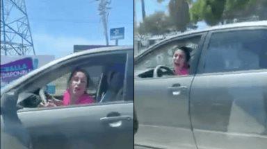 Denuncia ciudadana: Mujer agrede verbalmente a  automovilista y la apodan #LadyCómeteUnPan