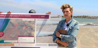 Gobierno del estado entregó rampa de acceso para pescadores de el Rosario