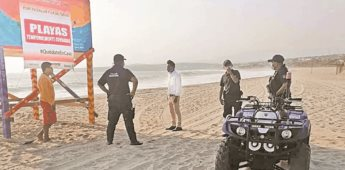 Ante aumento de muertes por Covid, cierran playas en Puerto Escondido.