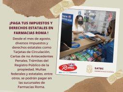 Celebran SAT BC y Farmacias Roma convenio para atender a los ciudadanos en pagos de impuestos y derechos estatales