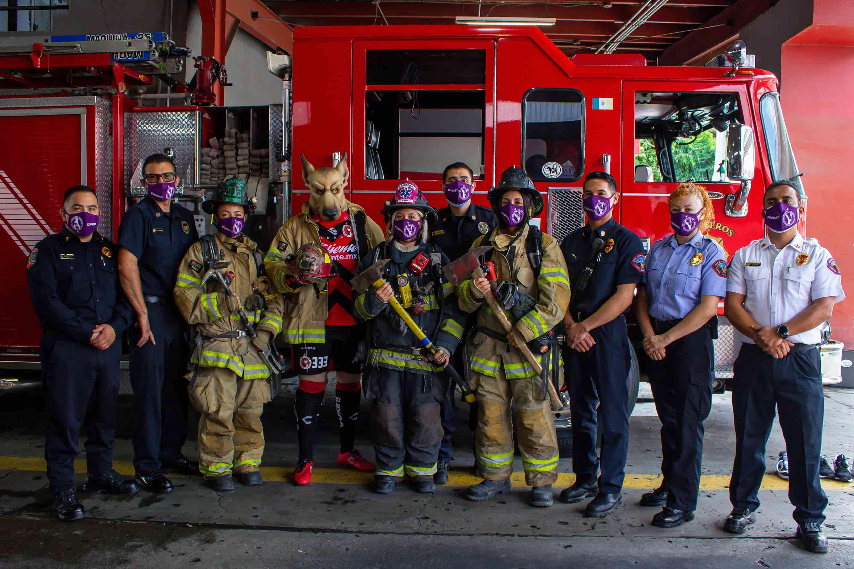 Xolos conmemora el día del Bombero en Estación Central de Tijuana