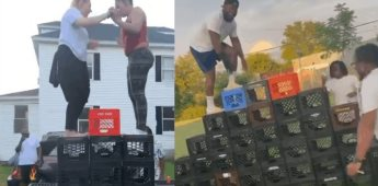 Aparece el reto viral de las cajas de leche, a través de redes sociales