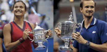Medvedev y Emma Raducanu nuevos campeones del US Open