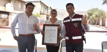 Inaugura Gobierno de Ensenada obra de pavimentación en Villas del Real II