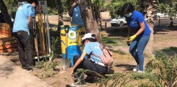 Reforestan SIMPATT Y Grupo ASEZ WAO áreas de Parque Morelos con más de mil árboles