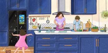 Descubre las 4 funciones de Family Hub que transforman el tiempo en la cocina en momentos de placer