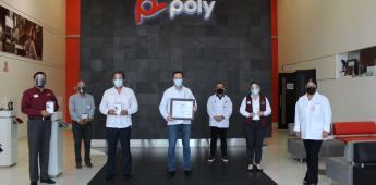 Recibe UTT donación de aparatos de comunicación inalámbrica por parte de la industria POLY