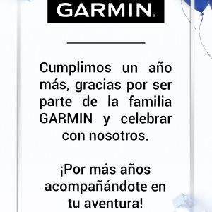 Celebra un año más con Garmin (r)