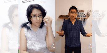 Usuario en TikTok corrige el uso de lenguaje de señas de la compañere Andrea Escamilla