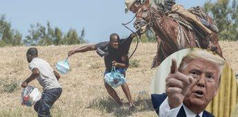 Trump elogia a agentes a caballo que intimidaron a migrantes