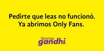 Editorial Gandhi abre cuenta en OnlyFans para fomentar la lectura