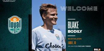 SD Loyal Incluye a Blake Bodily a Préstamo; Proviene del Portland Timbers de la MLS