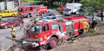 Una bombera sufre un accidente  a la altura del Hospital General.