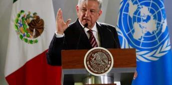 AMLO confirma asistencia a la ONU para hablar de corrupción