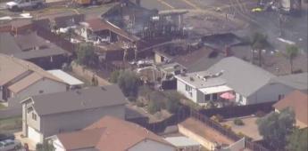 Se estrella avioneta en zona residencial de Santee, San Diego