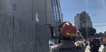Rescate de personas trabajando den alturas (andamio) en hotel