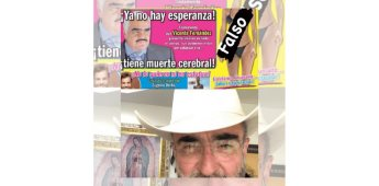 Es un asco que engañen al público de tal manera; Vicente Fernández Jr. asegura que quieren lucrar con la muerte de su padre