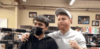 Canelo Álvarez entrena al hijo de Manny Pacquiao y prepara su debut