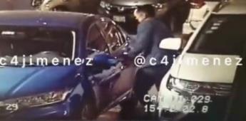 Video: Un hombre roba en segundos un auto estacionado en el Parque Delta, CDMX