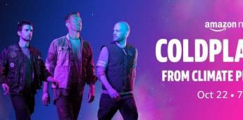 Amazon Music transmitirá en exclusiva concierto de Coldplay para celebrar el lanzamiento de su nuevo álbum, Music Of The Spheres.