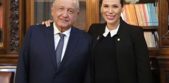 AMLO se reúne con la Gobernadora Electa Marina del Pilar Ávila Olmeda
