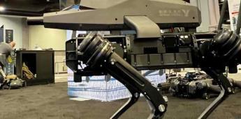 Diseñan perro robot que incluye un rifle de precisión