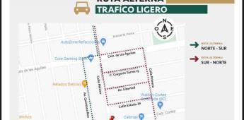 Por trabajos de rehabilitación el crucero de México y Cortez permanecerá cerrado durante 7 semanas