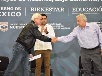 Con orgullo, el pueblo de BC se siente representado por el presidente AMLO, expresa el gobernador Jaime Bonilla Valdez
