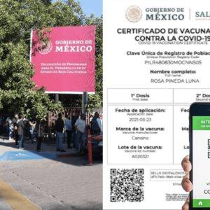 Tijuana: abren 41 centros de Bienestar para tramitar certificado Covid-19