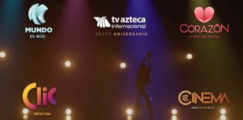 TV Azteca internacional festeja su 6to aniversario renovando Branding en sus señales de paga