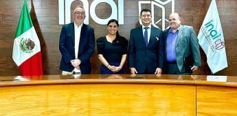 Sostiene Montserrat Caballero reunión con titulares del INAI