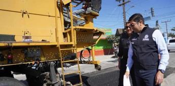Supervisa alcalde Armando Ayala rehabilitación del bulevar Esmeralda